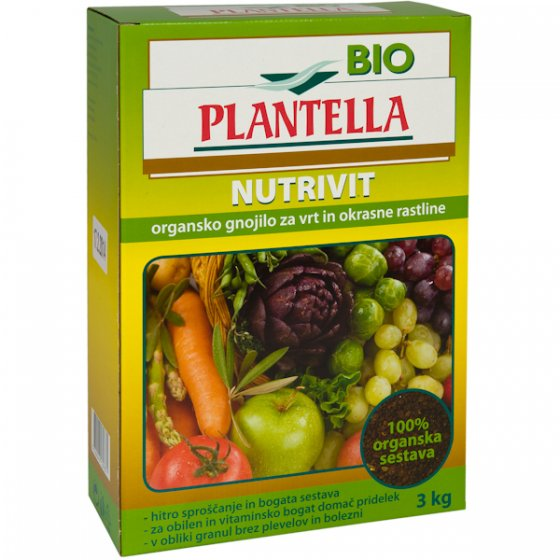 Univerzalno organsko gnojivo BIO PLANTELLA NUTRIVIT 3 kg
