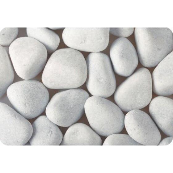 Kamen ukrasni oblutak OBLAČNO-BIJELI (mramor)