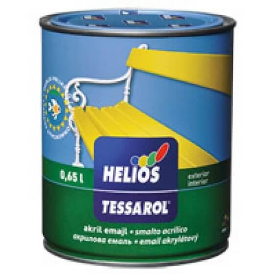 TESSAROL akril emajl zeleni satin 0,65 l HELIOS