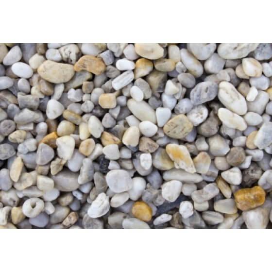 Kamen ukrasni oblutak BIJELO-ŠARENI (kvarc)