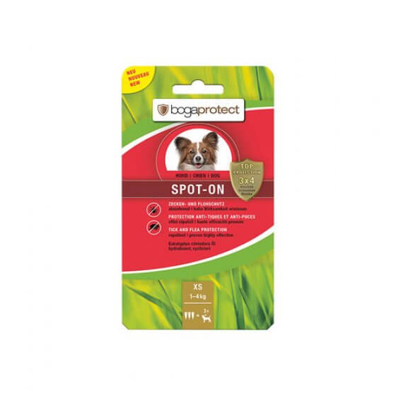 BOGAPROTECT SPOT-ON DOG XS 1-4 kg antiparazitske ampule